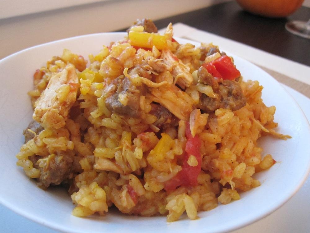 chorizo + chicken paella