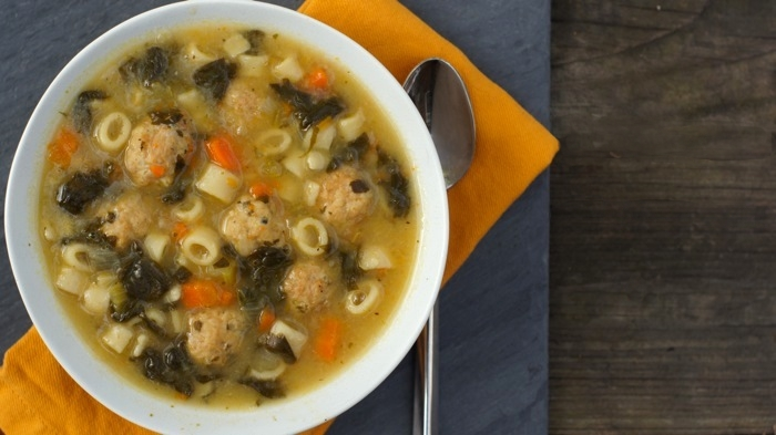 italian wedding soup with mini meatballs spinach pasta