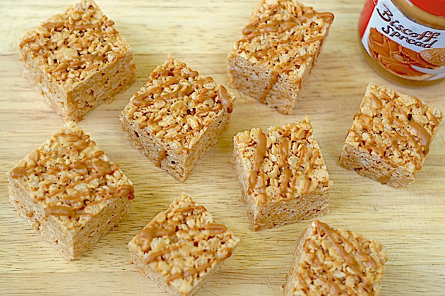 how to make rice krispie slices