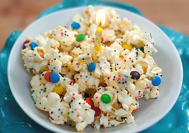Birthday Cake Batter Popcorn For A Milestone Birthday