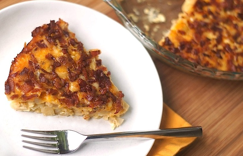 Easy Potato, Bacon + Egg Breakfast Casserole