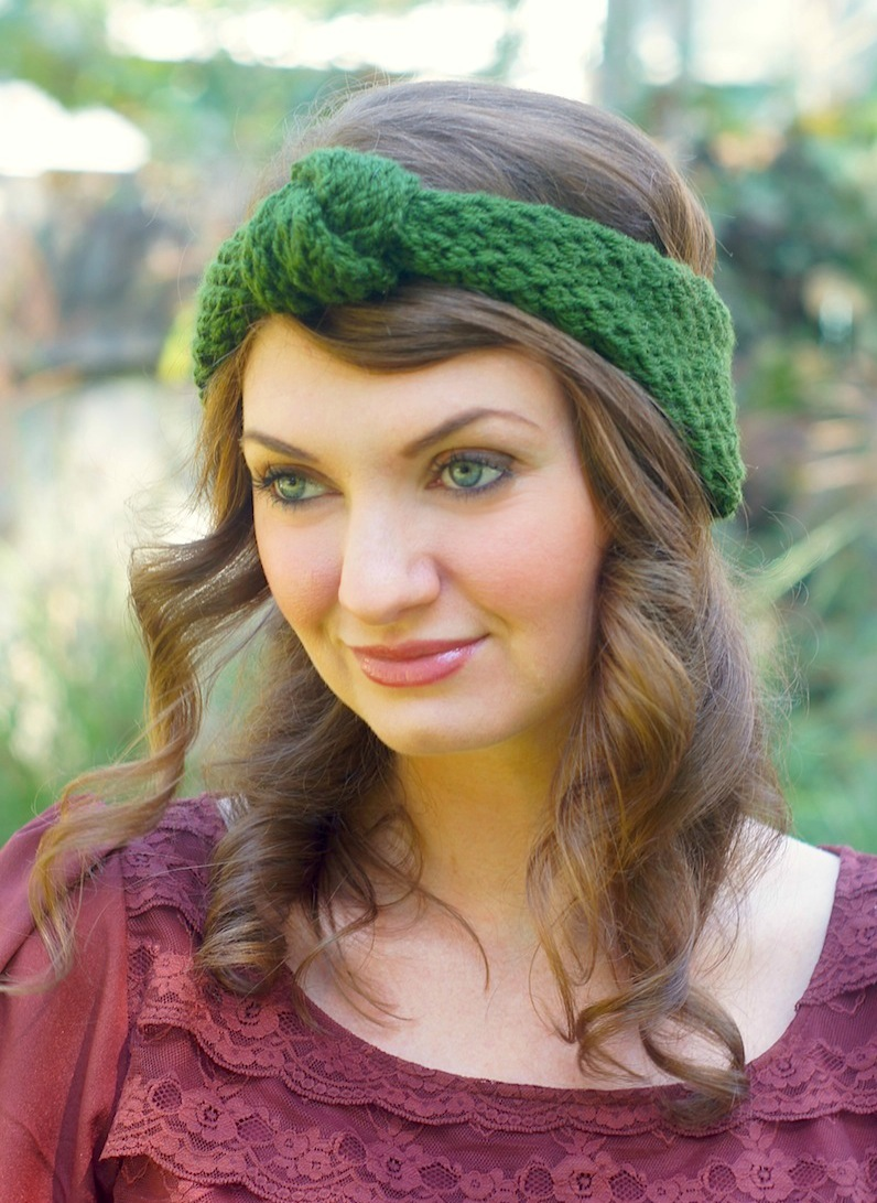 knitted vintage-inspired knot headband {craft}