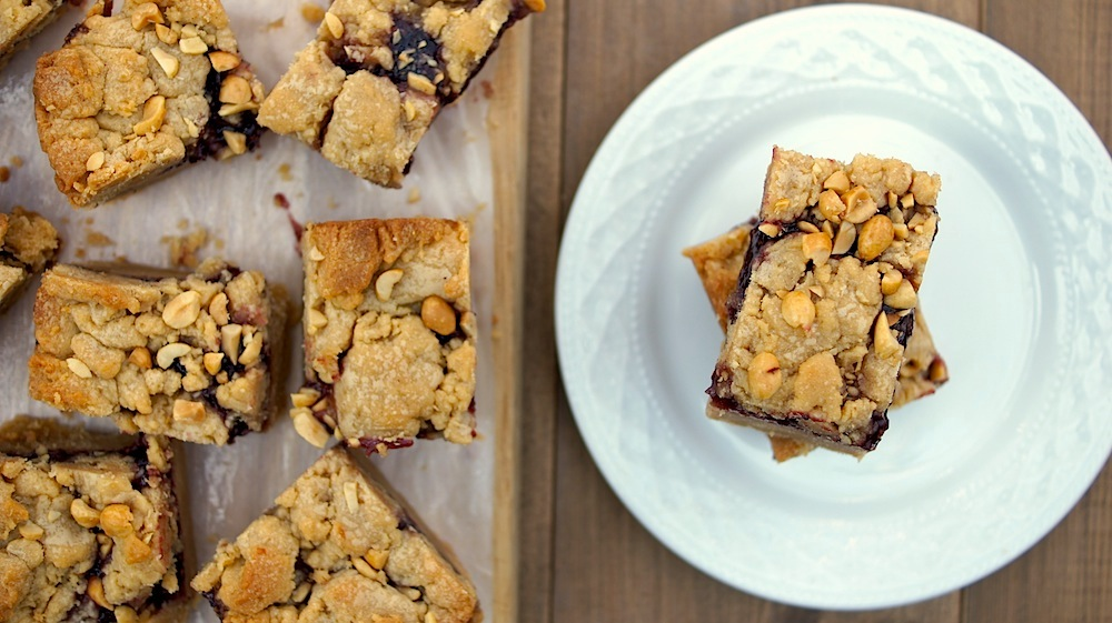 Peanut Butter + Jelly Bars