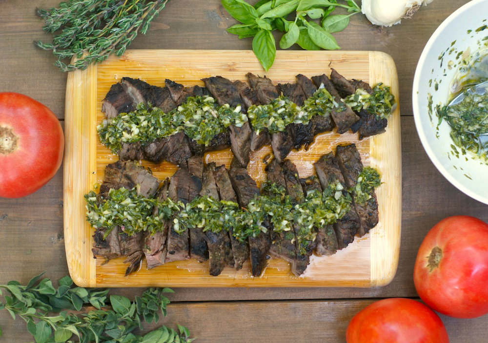 Grilled Chimichurri Skirt Steak