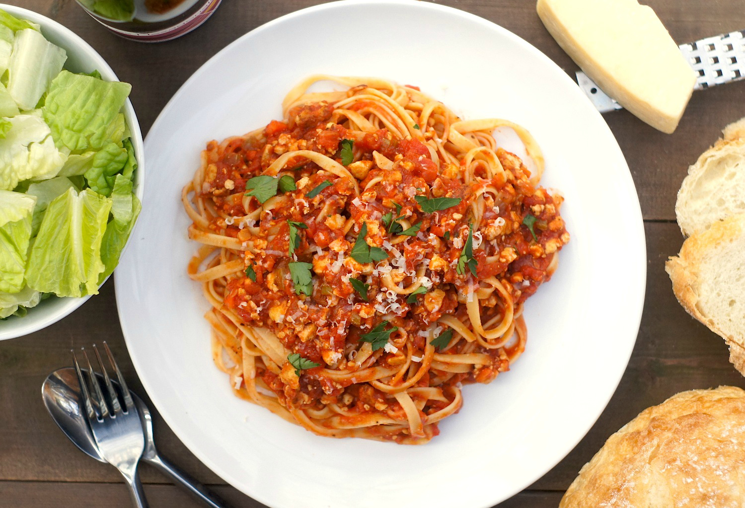"Pasta with Tofu ""Bolognese"""