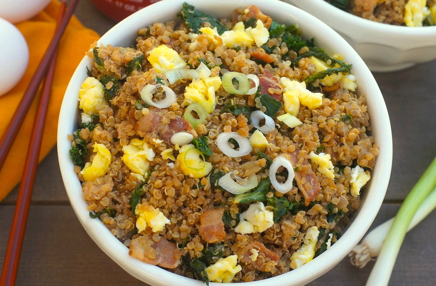 Bacon + Kale Quinoa Fried Rice