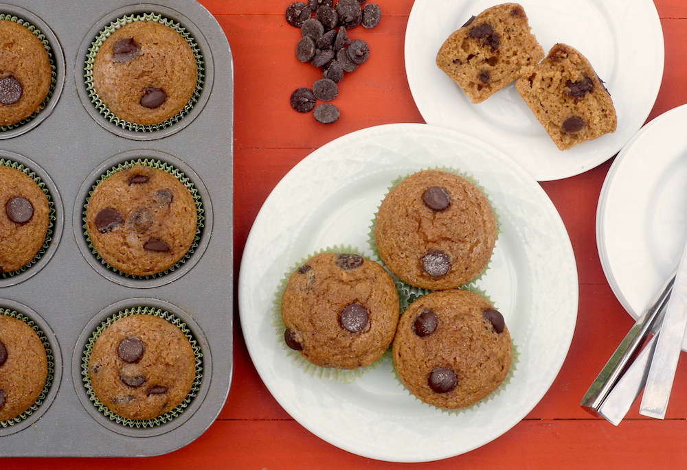 Whole Wheat Chocolate-Coffee Muffins