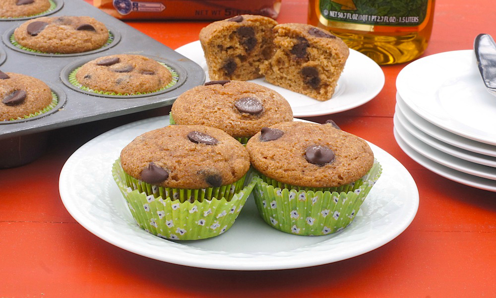 Whole Wheat Chocolate-Coffee Muffins