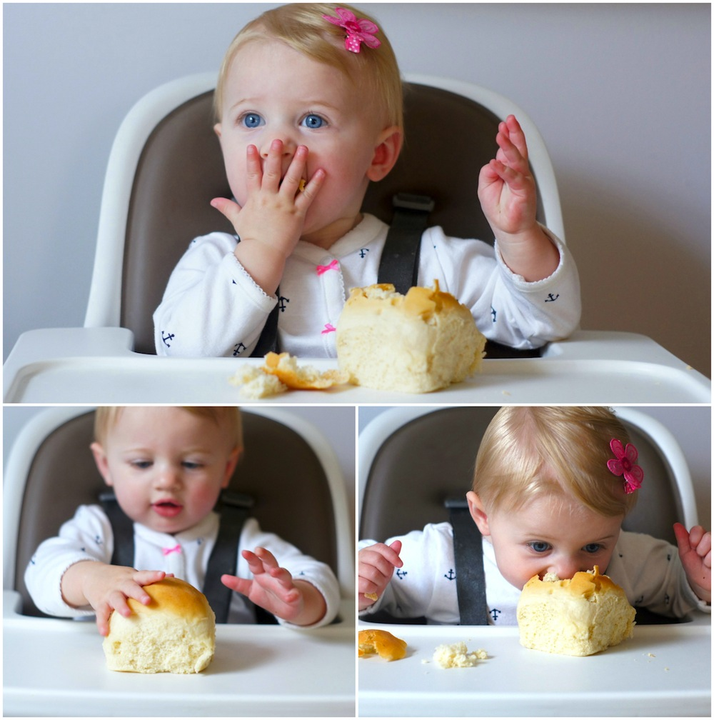 Fearless Baby, dinner roll lover!