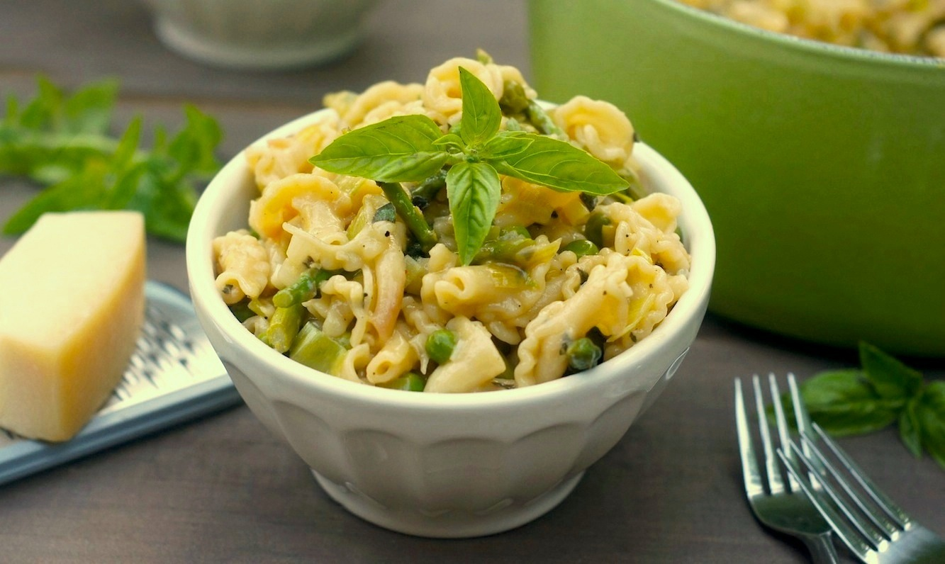 Linguine With Spring Vegetables Recipe Dishmaps