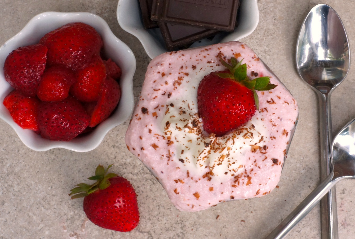 5-Minute Strawberry Cheesecake Mousse {Gluten-Free, Grain-Free, + Vegetarian}