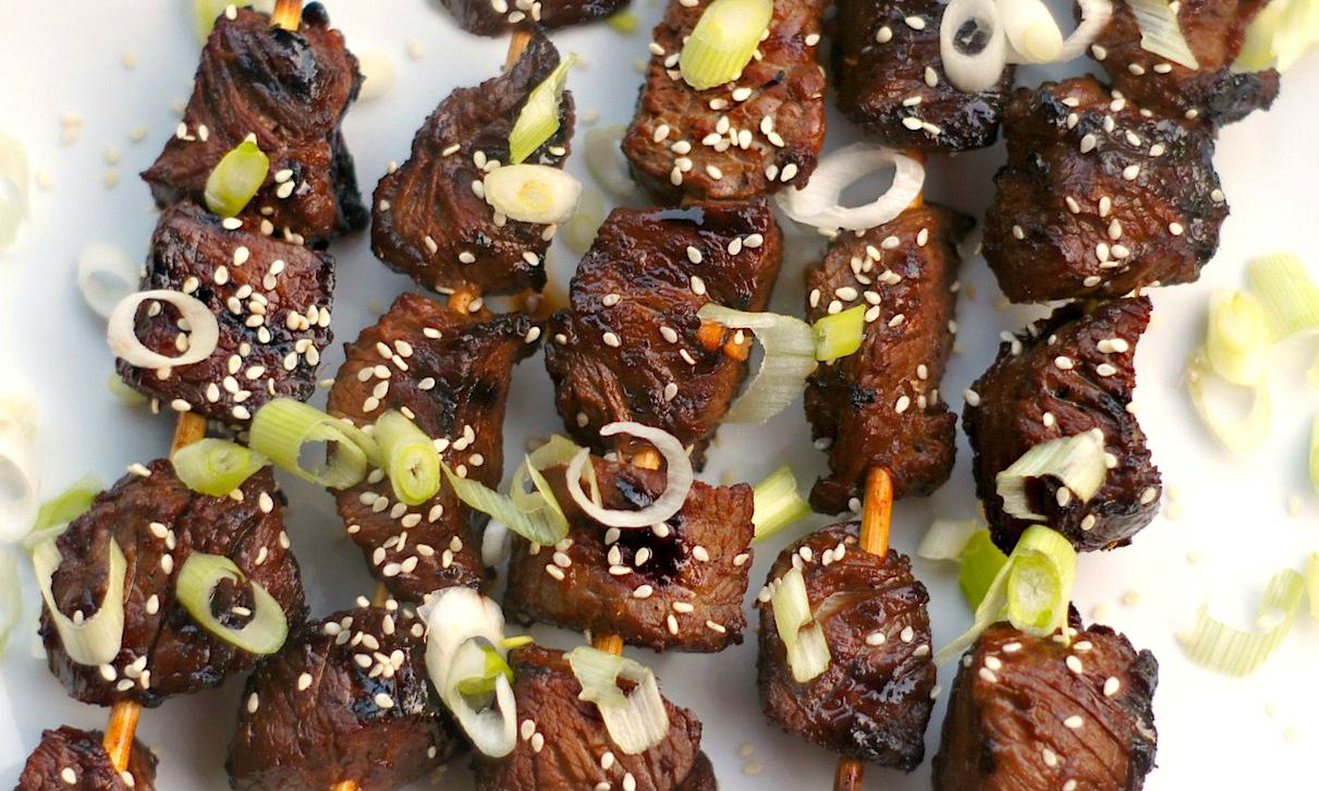 Asian Sesame Beef Skewers
