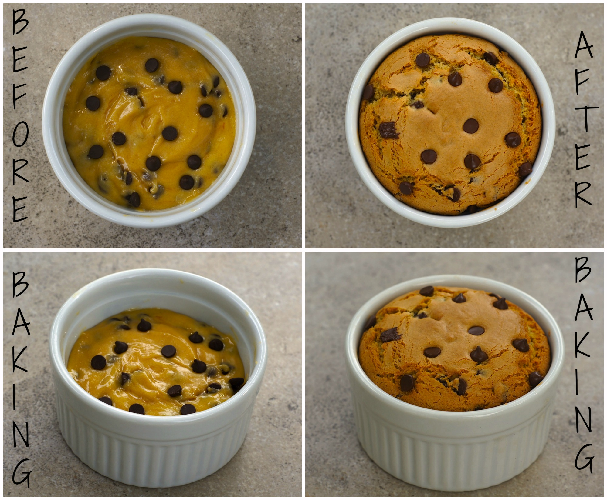 Single Serving Deep-Dish Chocolate Chip Cookie