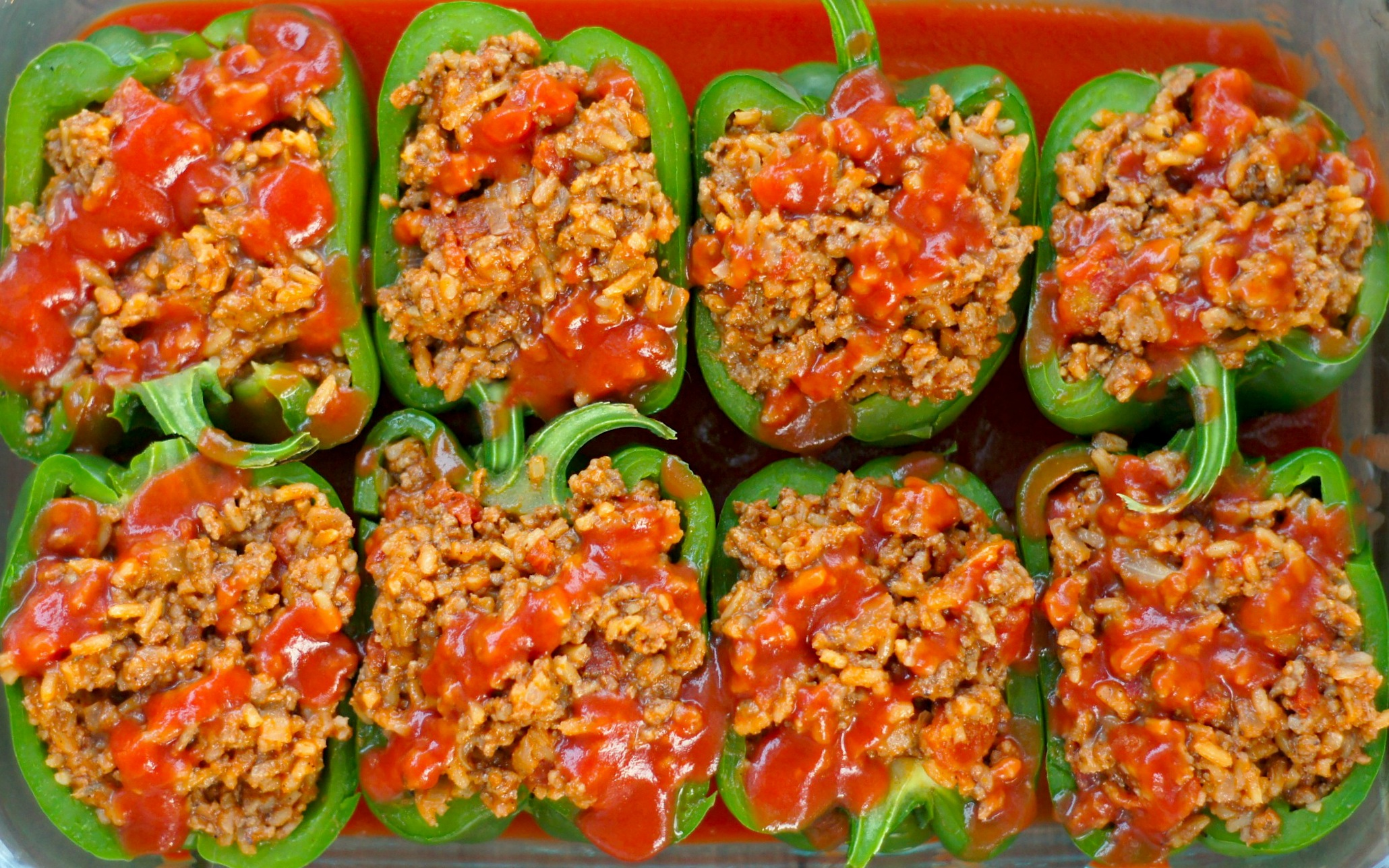 Stuffed Peppers {With Beef + Tomato Rice}