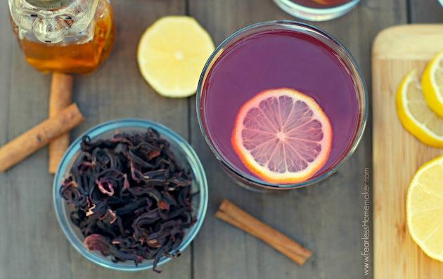 Spiced Hibiscus-Ginger Tea | www.FearlessHomemaker.com