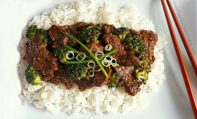 Quick + Simple Beef + Broccoli - a perfect, delicious weeknight meal, ready in less than 20 minutes!