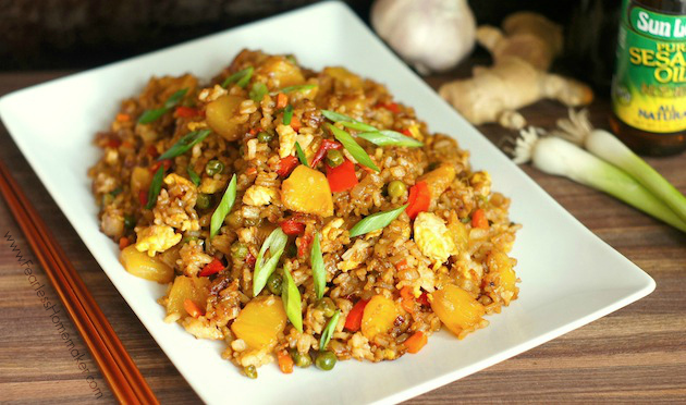 Pineapple Fried Rice www.FearlessHomemaker.com