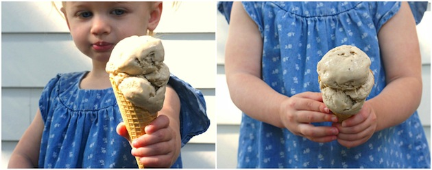 Banana-Peanut Butter Frozen Yogurt: A simple, delicious, three-ingredient frozen treat! www.FearlessHomemaker.com
