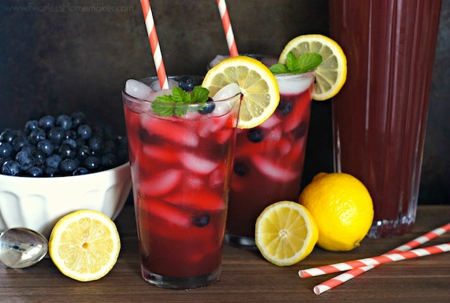Blueberry Lemonade  www.FearlessHomemaker.com