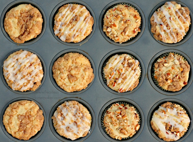 Apple-Almond Streusel Muffins | www.FearlessHomemaker.com