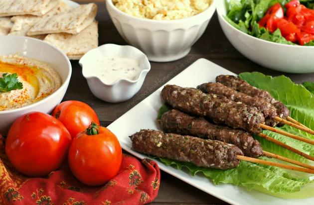 Kofta Kebabs (Middle Eastern-spiced lamb/beef meatball skewers) | www.FearlessHomemaker.com