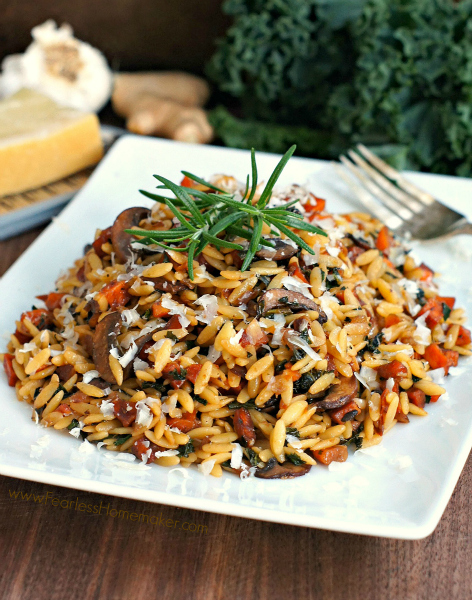 Autumn Orzo with Caramelized Vegetables | www.FearlessHomemaker.com