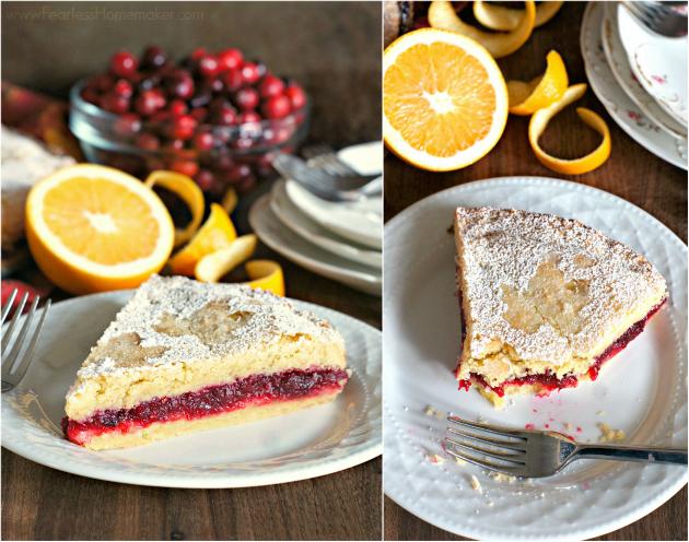 Cranberry Shortbread Cake | www.FearlessHomemaker.com